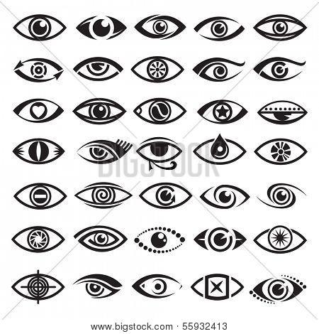 ícones de olhos