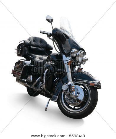Luxurious Black  Motorcycle