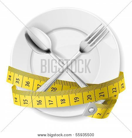 Diät-Konzept.