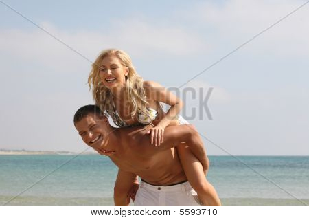 Man Giving Piggyback Ride