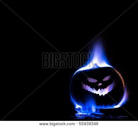 Ghostly Jack-O-Lantern
