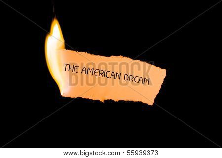 The American Dream in flames