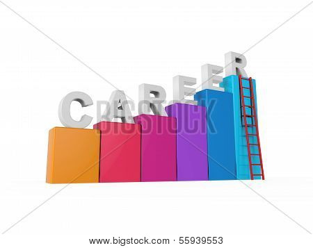 Career Ladder Isolated
