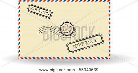 illustration of postal envelope
