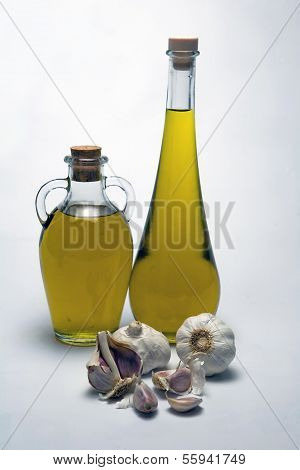 Oil extra olive and garlic