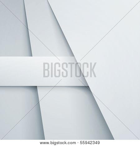 Abstract vector background with white paper layers