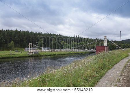 Polhollick Footbridge In Scotland