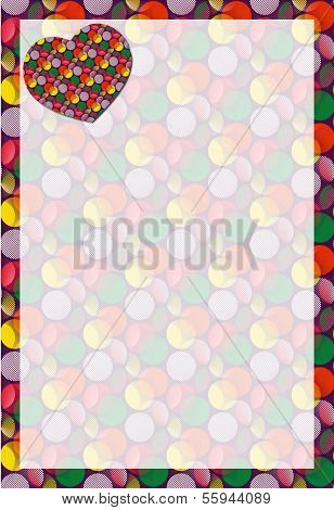 Crazy Dot Heart Stationery