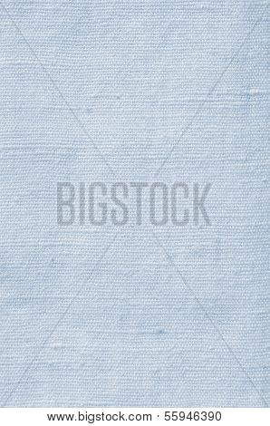 natürliche Licht blau Flachsfasern Leinen Textur, detaillierte Closeup, rustikale zerknittertes Vintage texturiert
