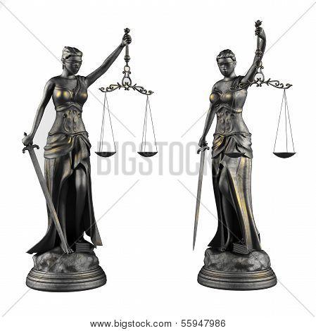 Themis. Statue of justice femida.