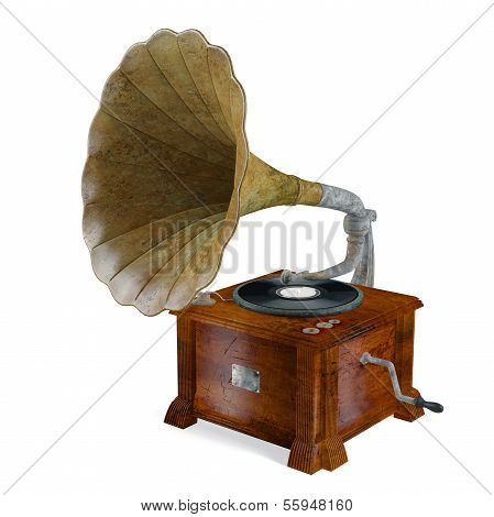 Vintage grammofon isoliert.