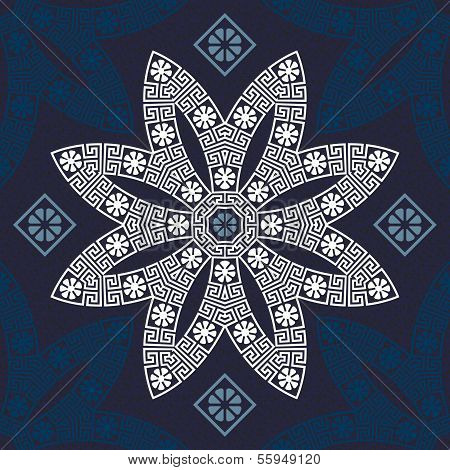 Vector Seamless Traditional Vintage Greek Ornament