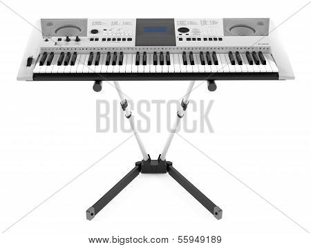 Synthesizer on the stand isolated