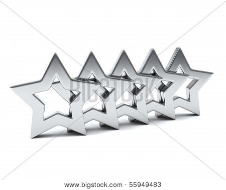 Five silver stars, 3d