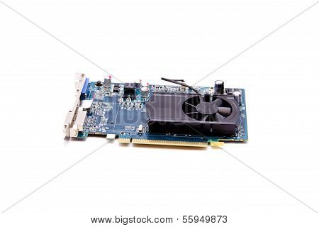 Video Graphic Card for Computer on white background