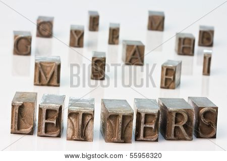 Word Letters Made Of Original Metal Letters