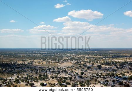 Aerial view of Maun
