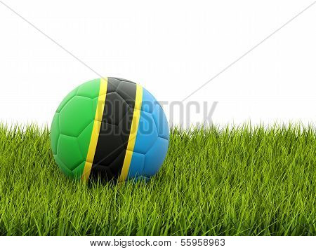 Football With Flag Of Tanzania