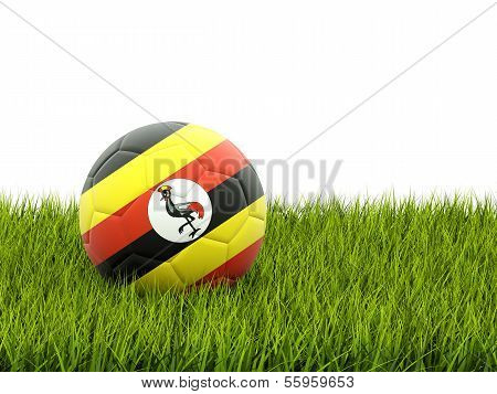 Football With Flag Of Uganda