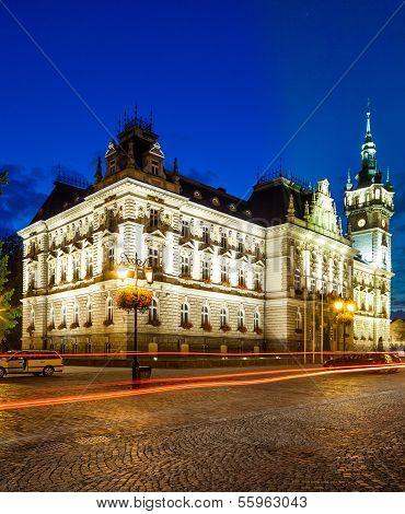 Bielsko-Biala, Poland,Neo-Renaissance town hall.
