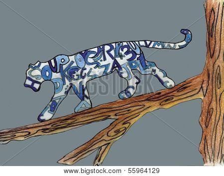 Tiger photo drawing