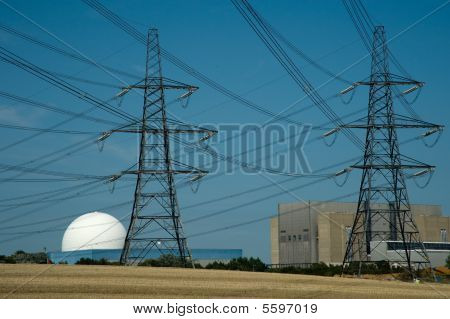 Nuclear Power Stations And Pylons