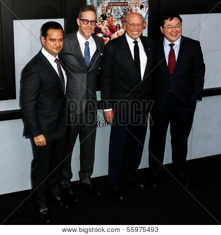 NEW YORK-DEC 17: (L-R) Producers Riza Aziz, Joey McFarland, Irwin Winkler and Joe Low attend the premiere of