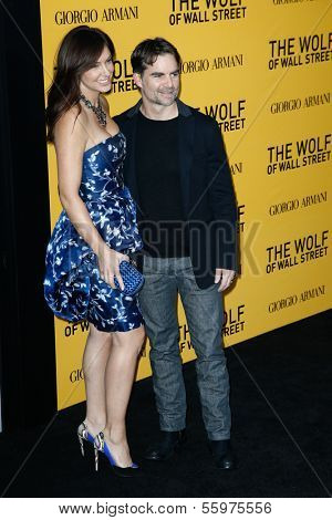 NEW YORK-DEC 17: NASCAR driver Jeff Gordon and wife Ingrid Vandebosch attend the premiere of