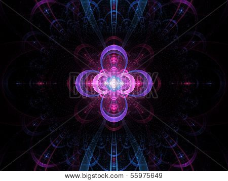 Nuclear Cold Fusion Abstract Fractal Background