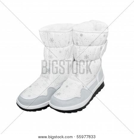 Winter boots with path