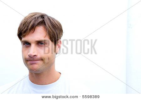 Upset Man Making An Expression