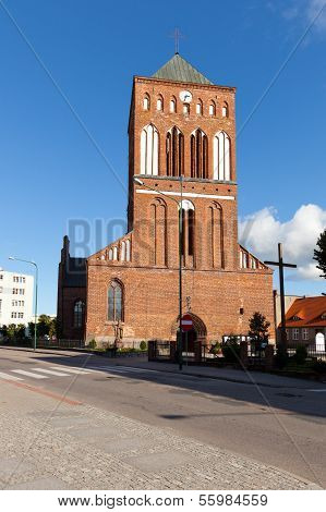 alte historische Kirche in swidwin
