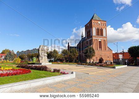 Old Historic Church In Swidwin