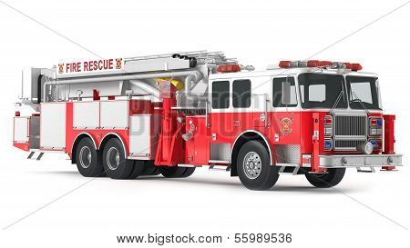 fire truck isolated