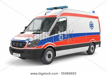 Modern Ambulance car