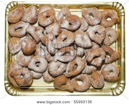 Tray Of Homemade Doughnuts