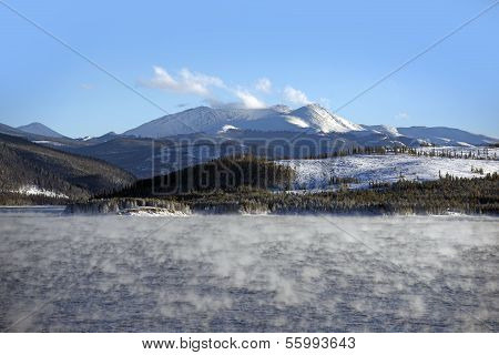 Lake Water Vapor In Winter