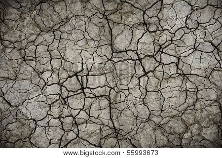 Dry Cracked Soil Background