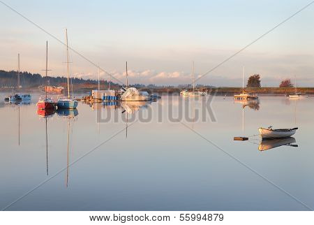 Nicomekl River Dawn Anchorage, British Columbia