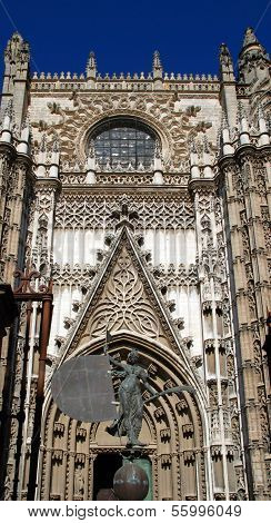 Cathedral entrance, Seville, Spain.