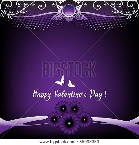 Valentine purple card