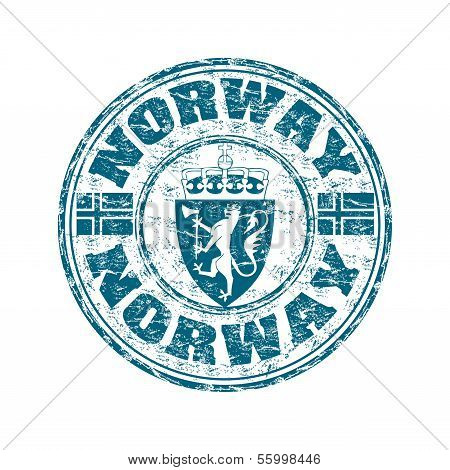Norway grunge rubber stamp