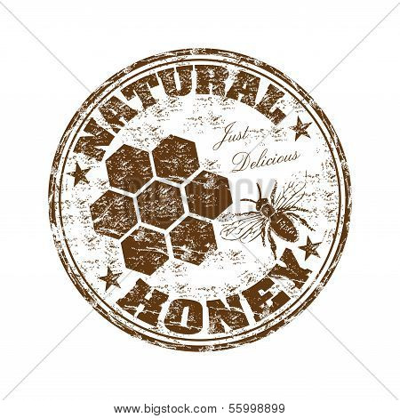 Natural honey grunge rubber stamp