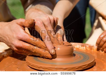 Production Process On The Potter's Wheel
