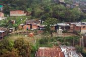 picture of medellin  - Aerial view of village along hillside just outside of Medellin - JPG