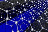 stock photo of graphene  - Graphene Sheet Illustration - JPG