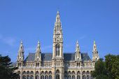 Rathaus(Town Hall) building in Vienna, Austria