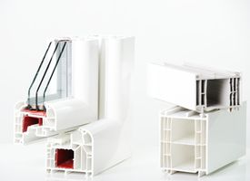 pic of white vinyl fence  - Plastic window profile - JPG