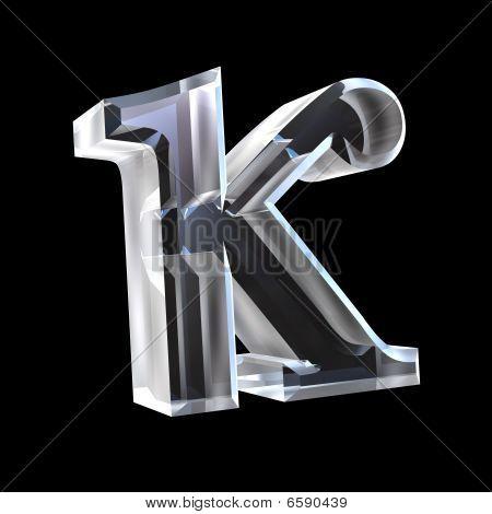 kappa symbol in glass (3d)