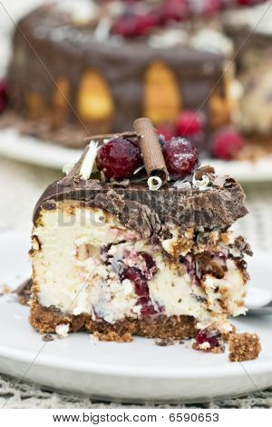 Cranberry Chocolate Cheesecake
